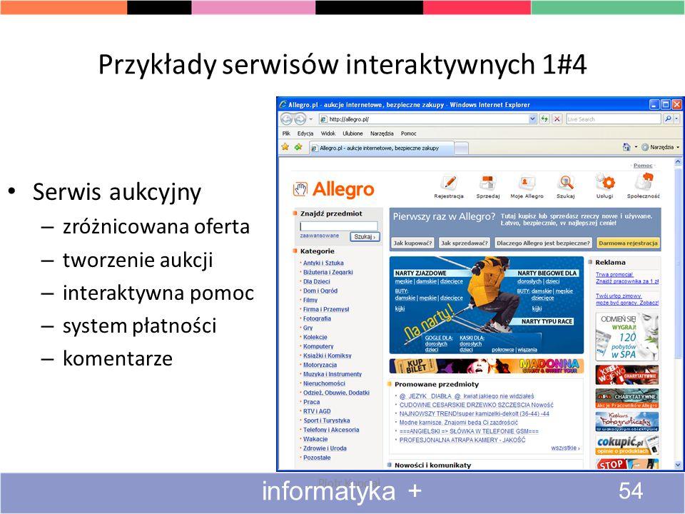 Przykłady serwisów interaktywnych 1#4