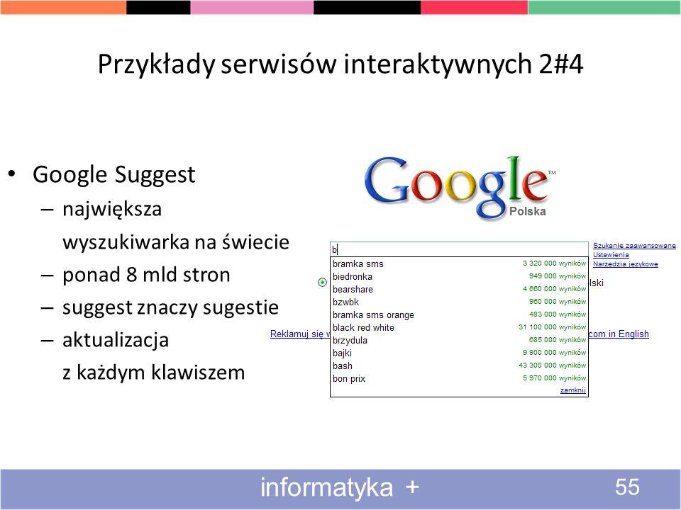 Przykłady serwisów interaktywnych 2#4