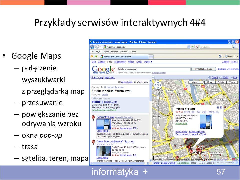 Przykłady serwisów interaktywnych 4#4