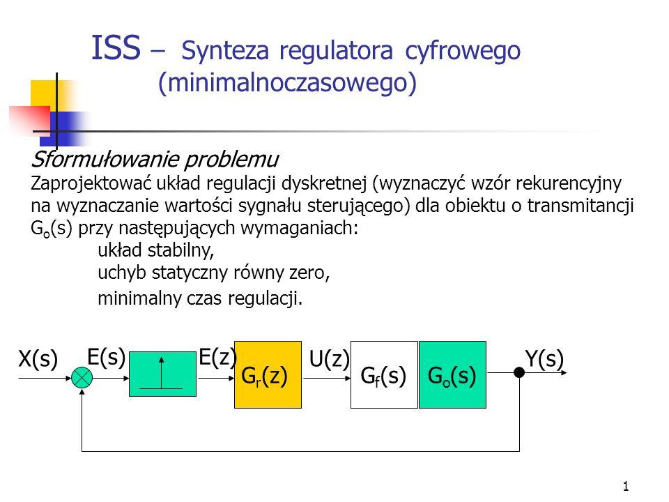 ISS – Synteza regulatora cyfrowego (minimalnoczasowego)