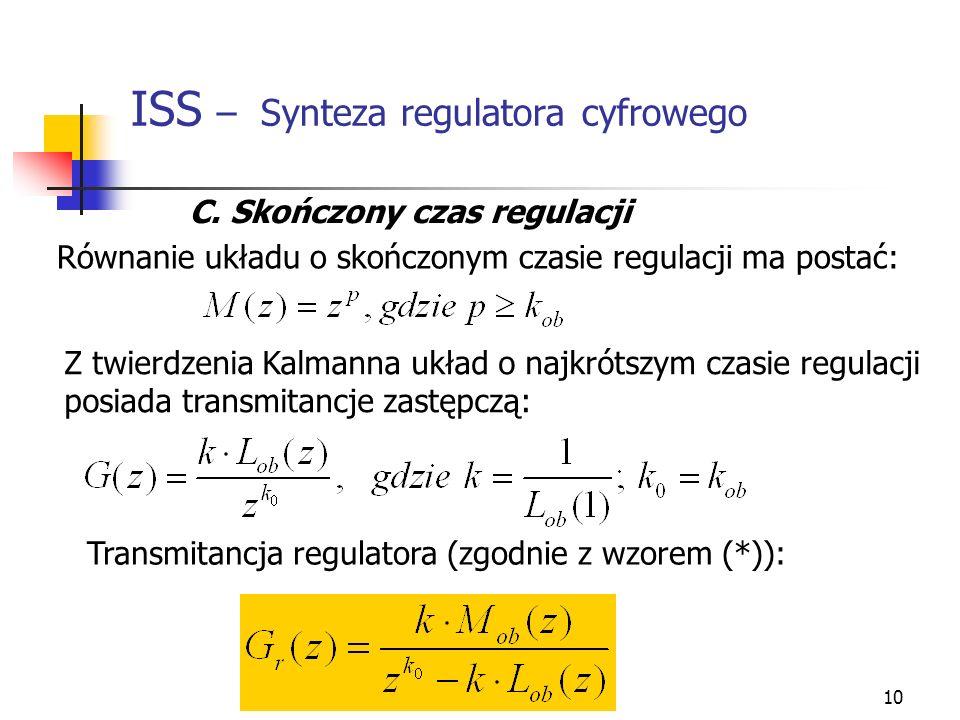 ISS – Synteza regulatora cyfrowego