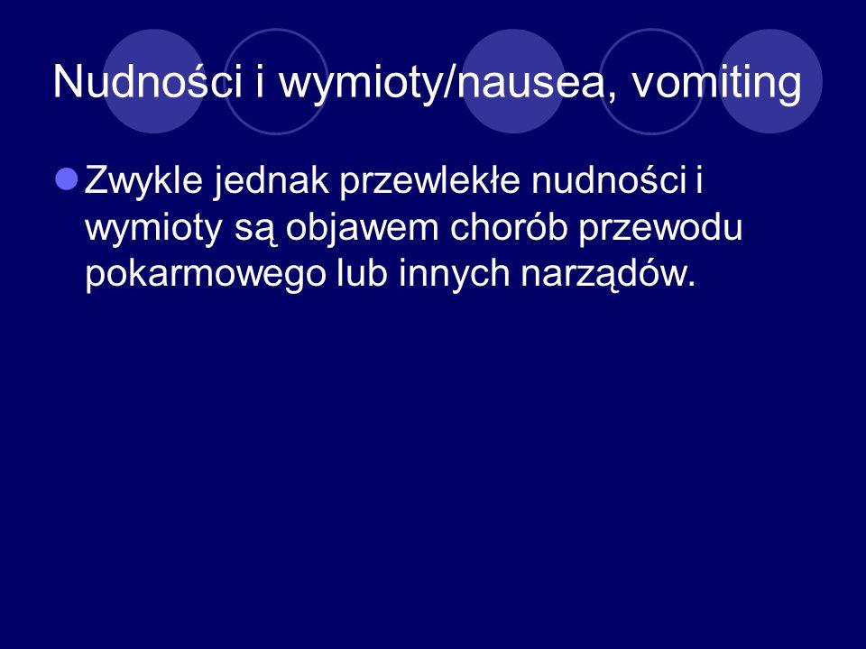 Nudności i wymioty/nausea, vomiting