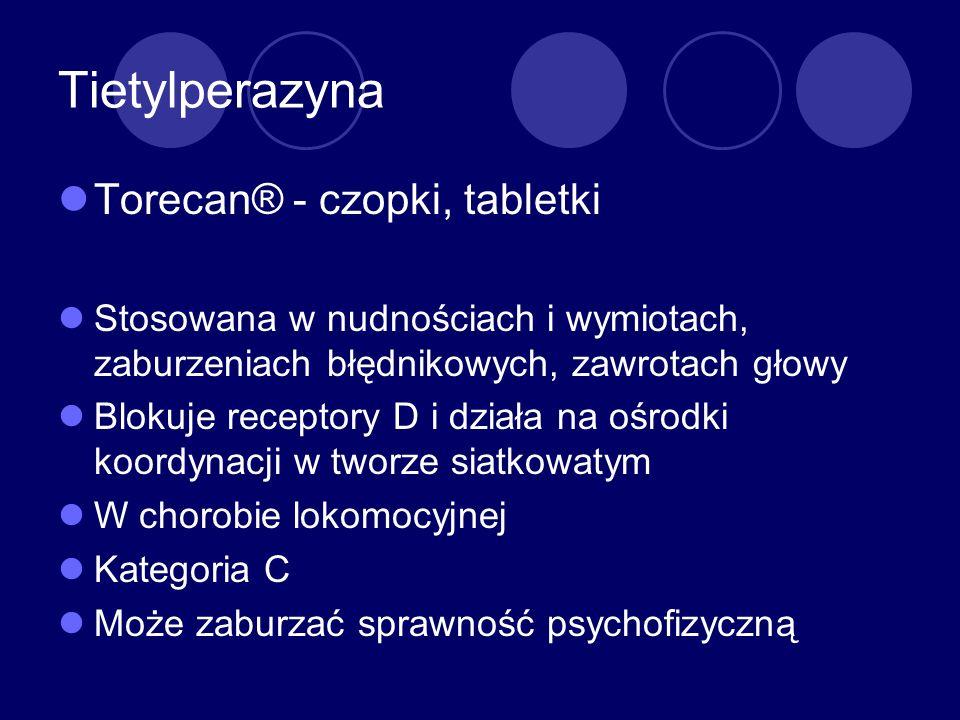 Tietylperazyna Torecan® - czopki, tabletki