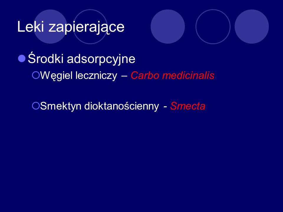 Leki zapierające Środki adsorpcyjne