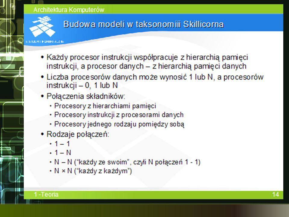 Tworząc modele w taksonomii Skillicorna przyjmuje się kilak założeń