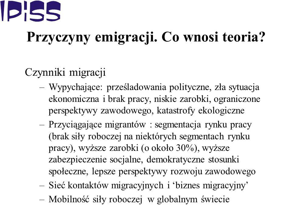 Przyczyny emigracji. Co wnosi teoria