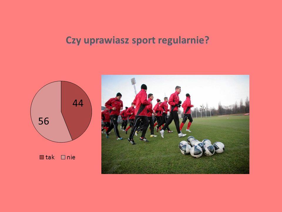 Czy uprawiasz sport regularnie