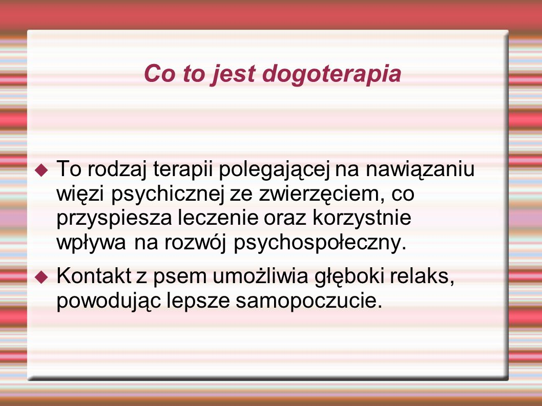Co to jest dogoterapia