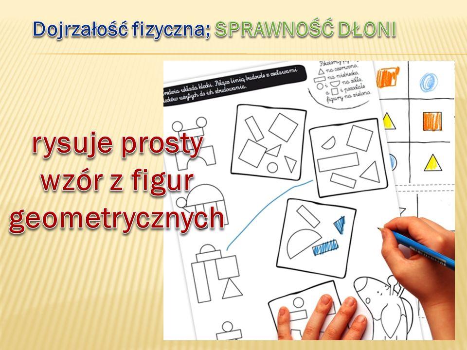 rysuje prosty wzór z figur geometrycznych