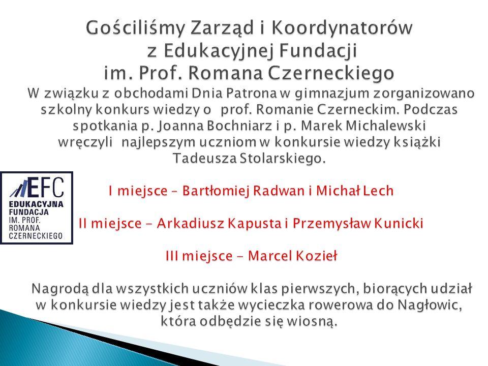 Gościliśmy Zarząd i Koordynatorów z Edukacyjnej Fundacji im. Prof