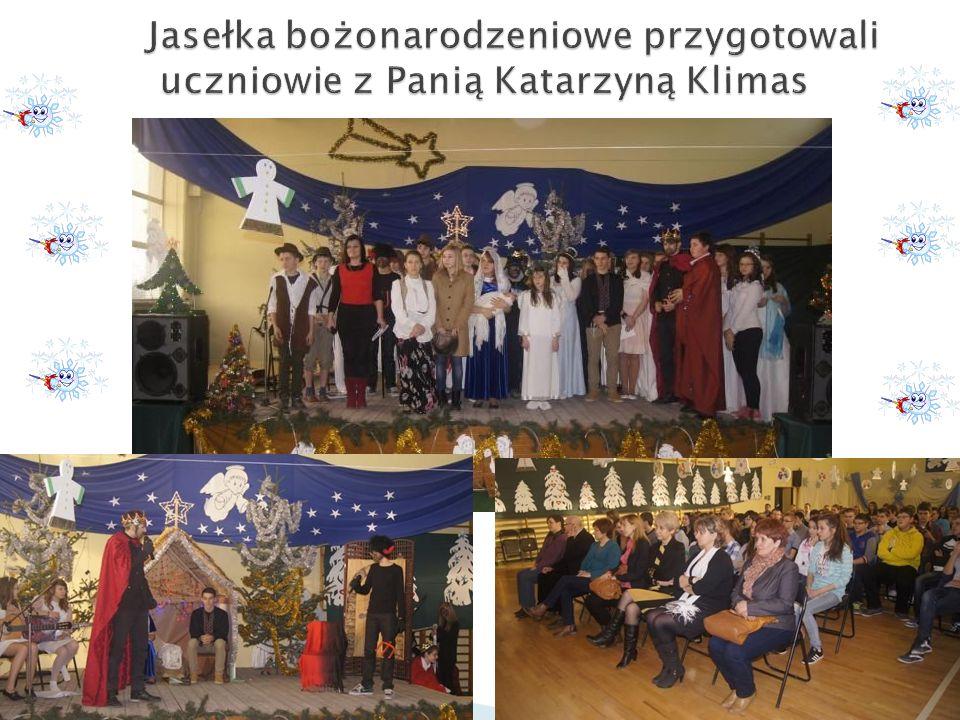 Jasełka bożonarodzeniowe przygotowali uczniowie z Panią Katarzyną Klimas