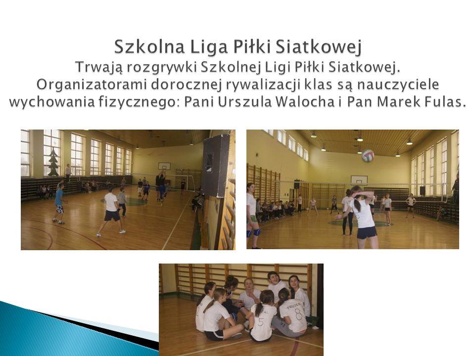Szkolna Liga Piłki Siatkowej Trwają rozgrywki Szkolnej Ligi Piłki Siatkowej.