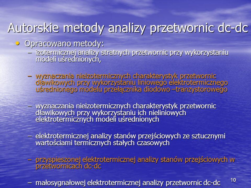 Autorskie metody analizy przetwornic dc-dc