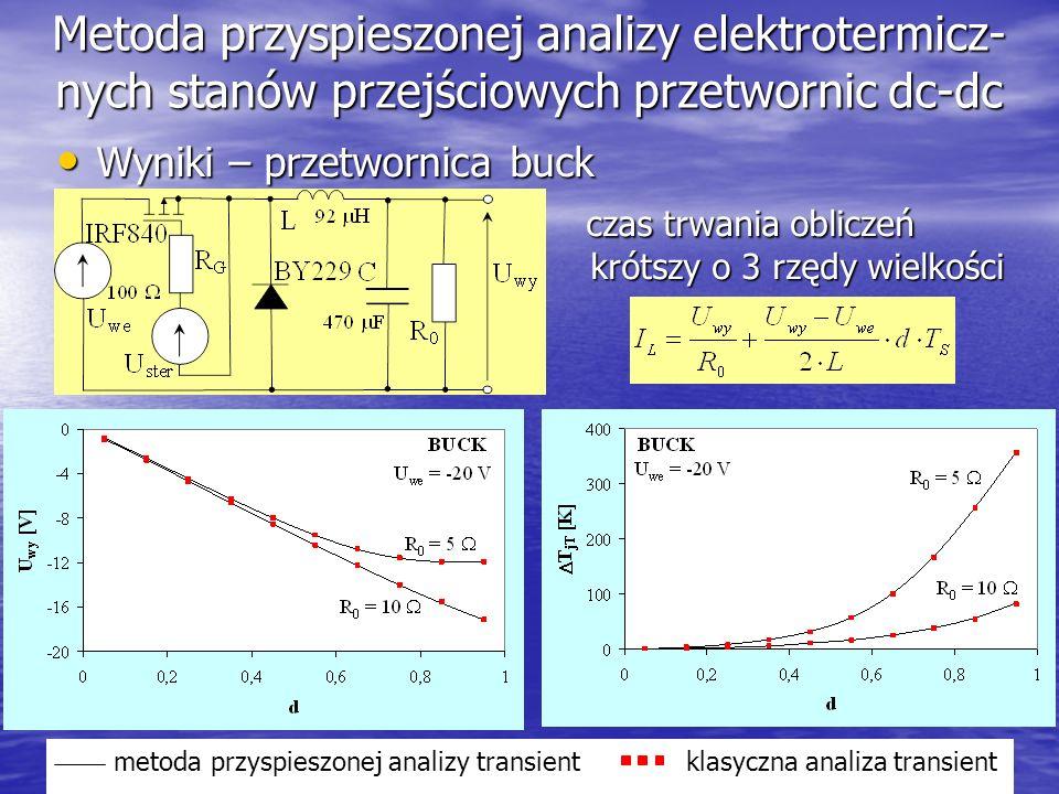 Metoda przyspieszonej analizy elektrotermicz-nych stanów przejściowych przetwornic dc-dc