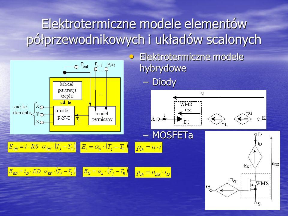Elektrotermiczne modele elementów półprzewodnikowych i układów scalonych