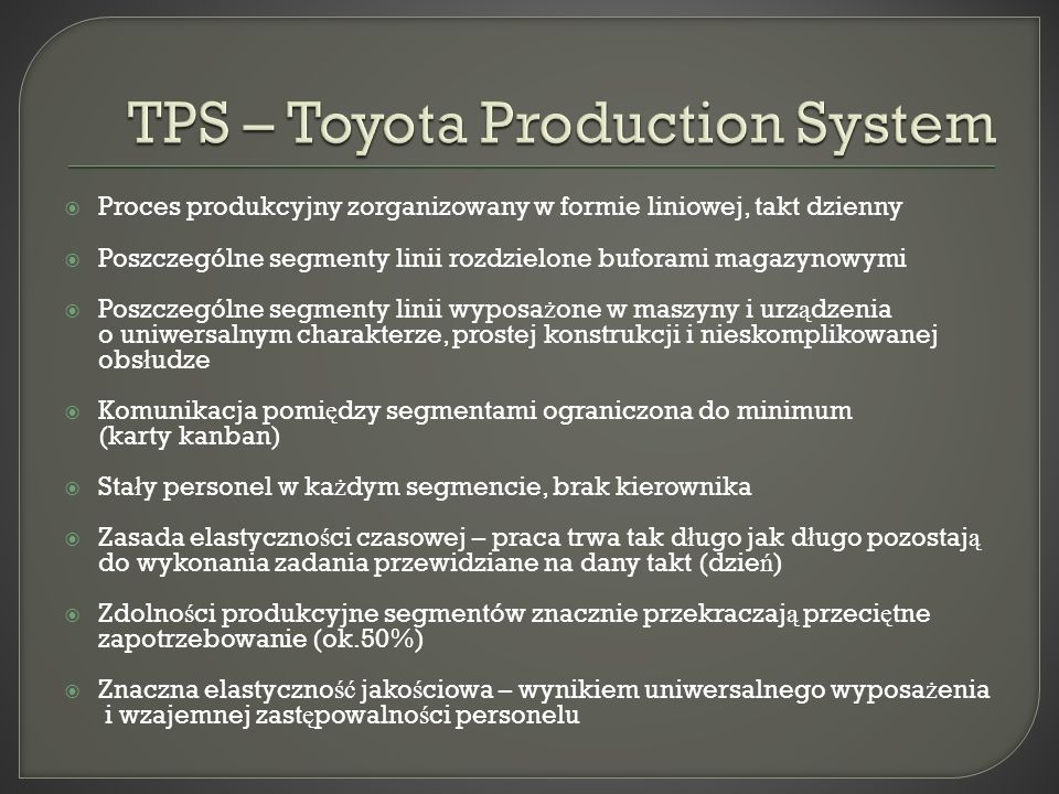 TPS – Toyota Production System