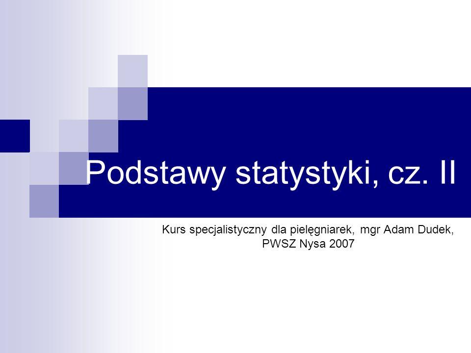 Podstawy statystyki, cz. II