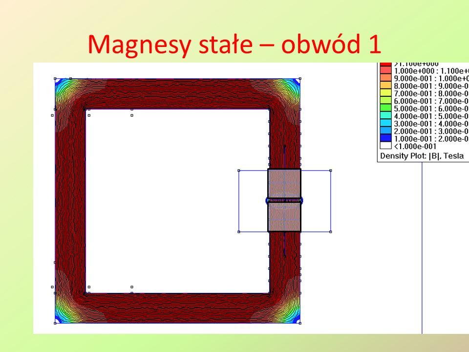 Magnesy stałe – obwód 1