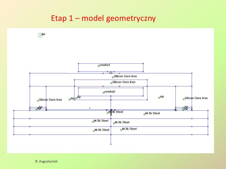 Etap 1 – model geometryczny