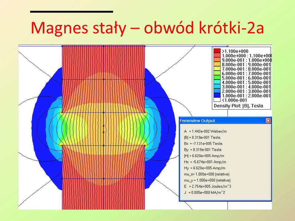 Magnes stały – obwód krótki-2a