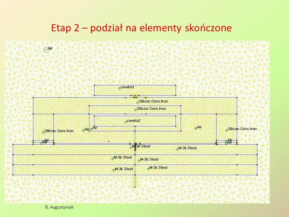 Etap 2 – podział na elementy skończone