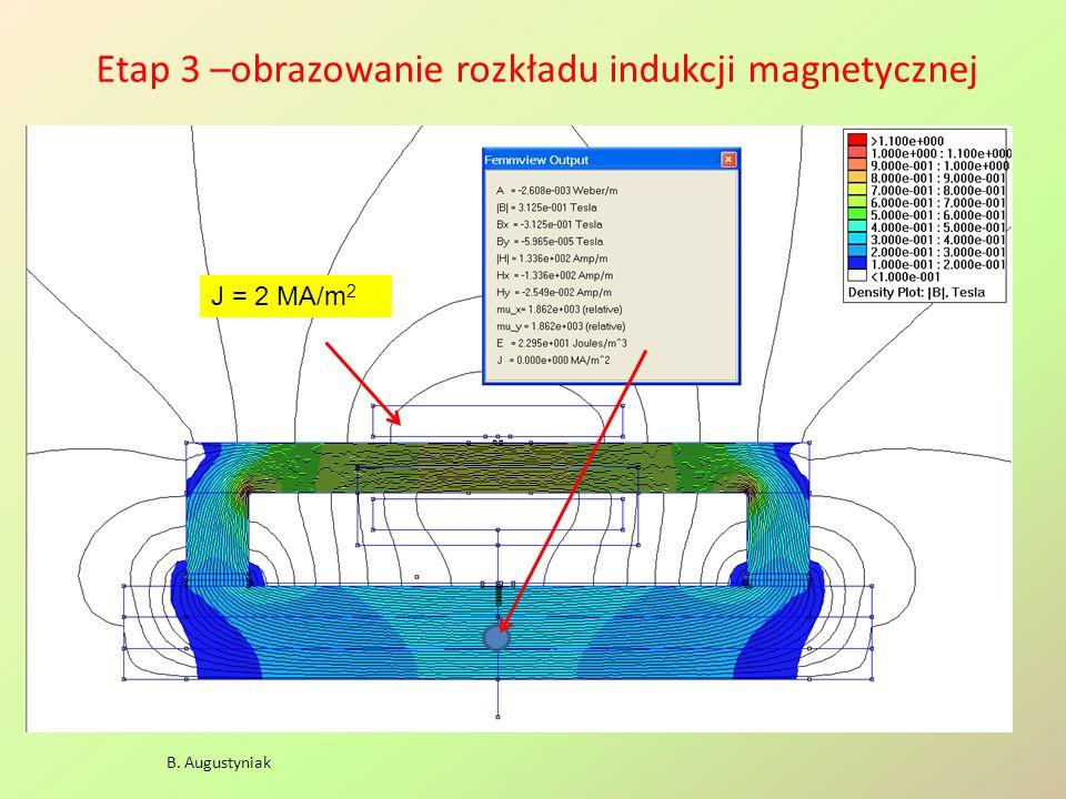 Etap 3 –obrazowanie rozkładu indukcji magnetycznej