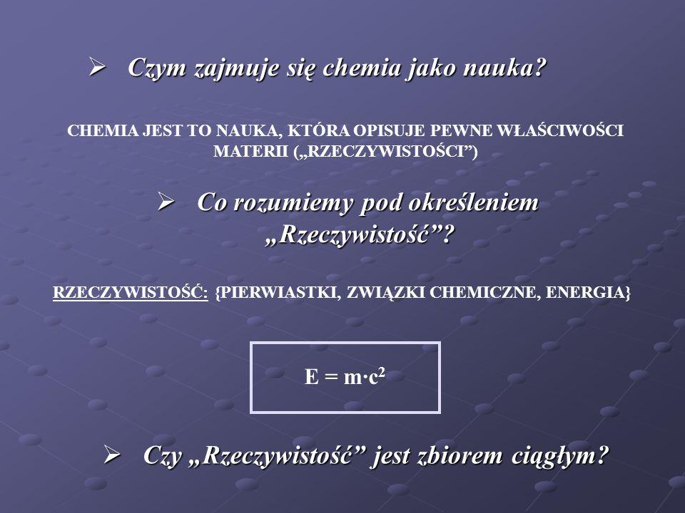 Czym zajmuje się chemia jako nauka