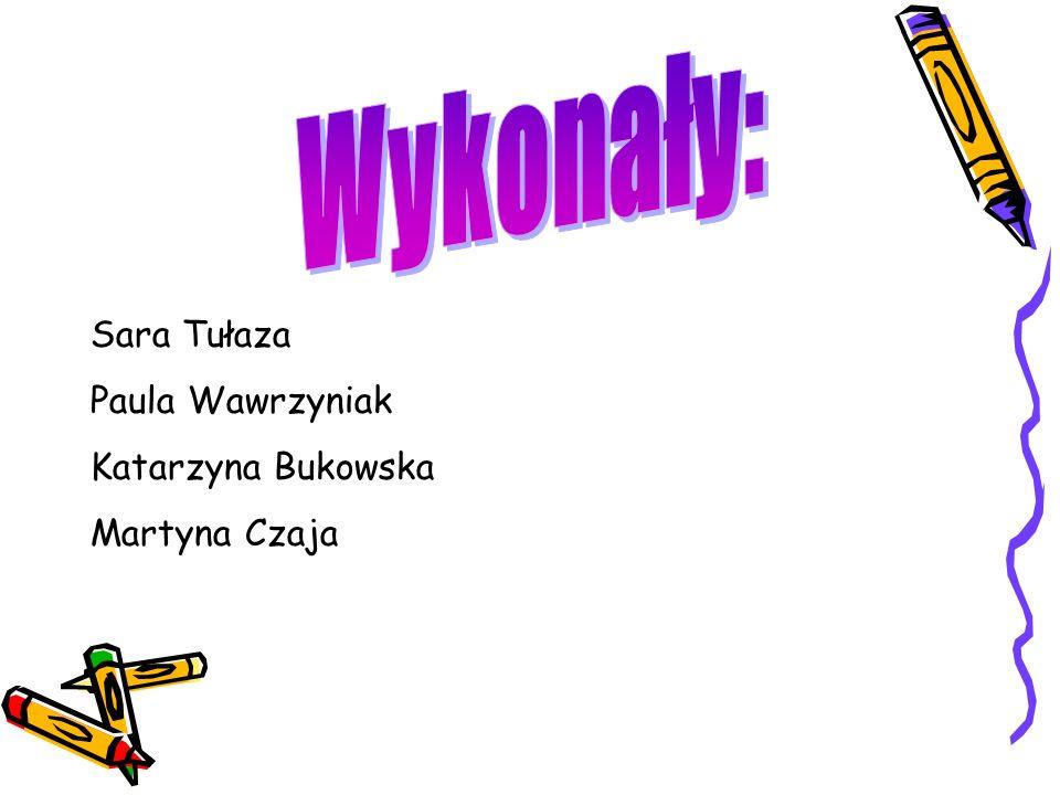 Wykonały: Sara Tułaza Paula Wawrzyniak Katarzyna Bukowska