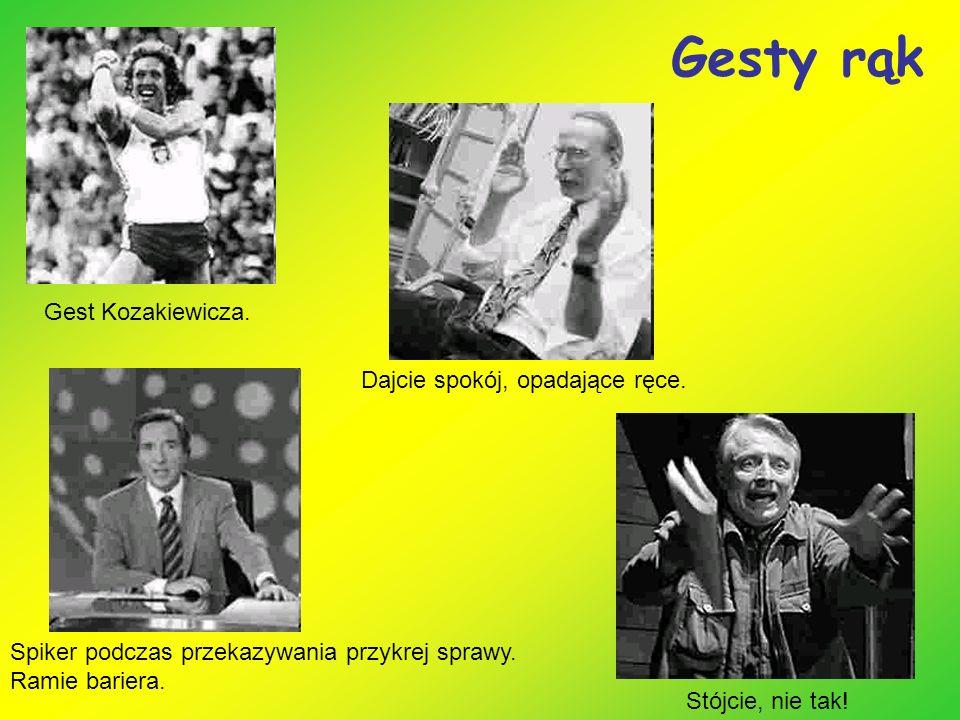 Gesty rąk Gest Kozakiewicza. Dajcie spokój, opadające ręce.