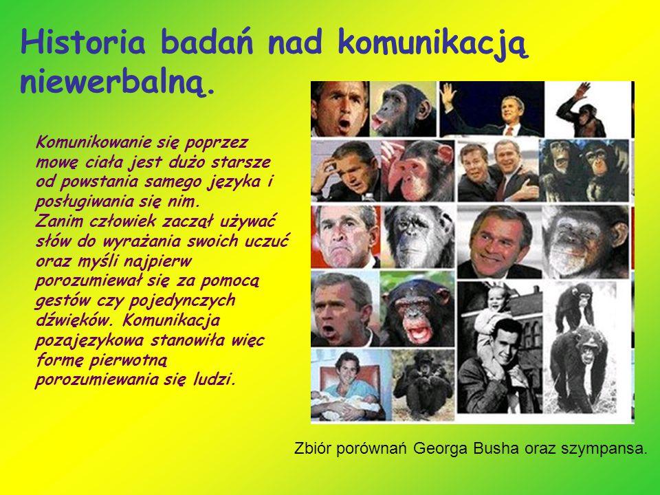 Historia badań nad komunikacją niewerbalną.