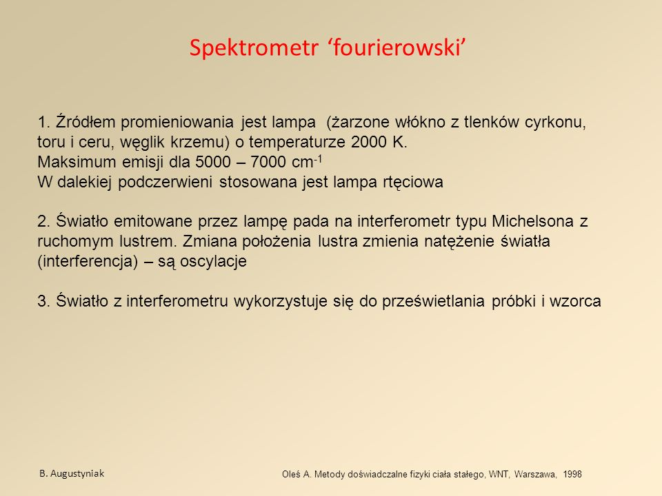Spektrometr 'fourierowski'