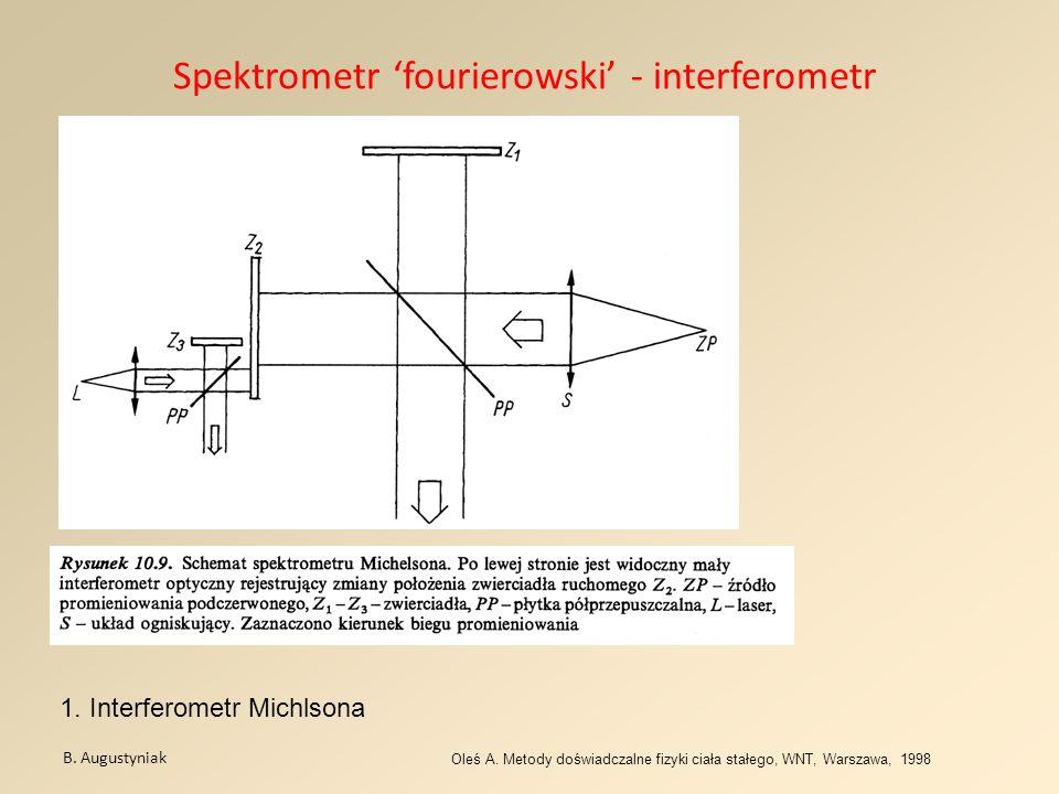 Spektrometr 'fourierowski' - interferometr