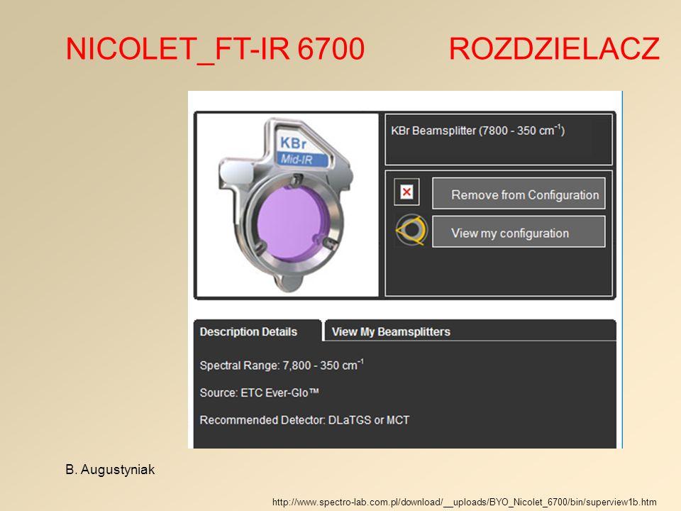 NICOLET_FT-IR 6700 ROZDZIELACZ