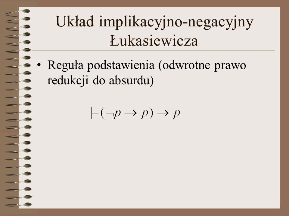 Układ implikacyjno-negacyjny Łukasiewicza