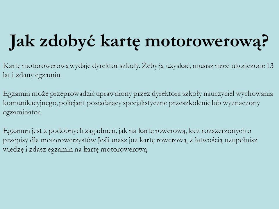 Jak zdobyć kartę motorowerową