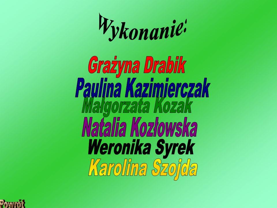 Wykonanie: Grażyna Drabik Paulina Kazimierczak Małgorzata Kozak