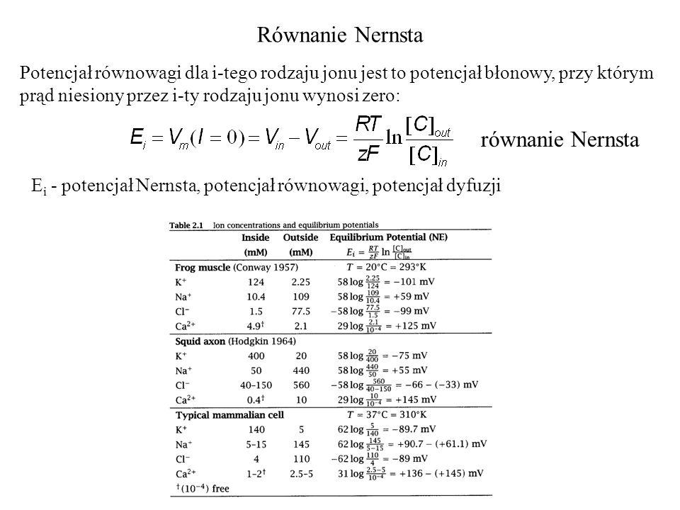 Równanie Nernsta równanie Nernsta