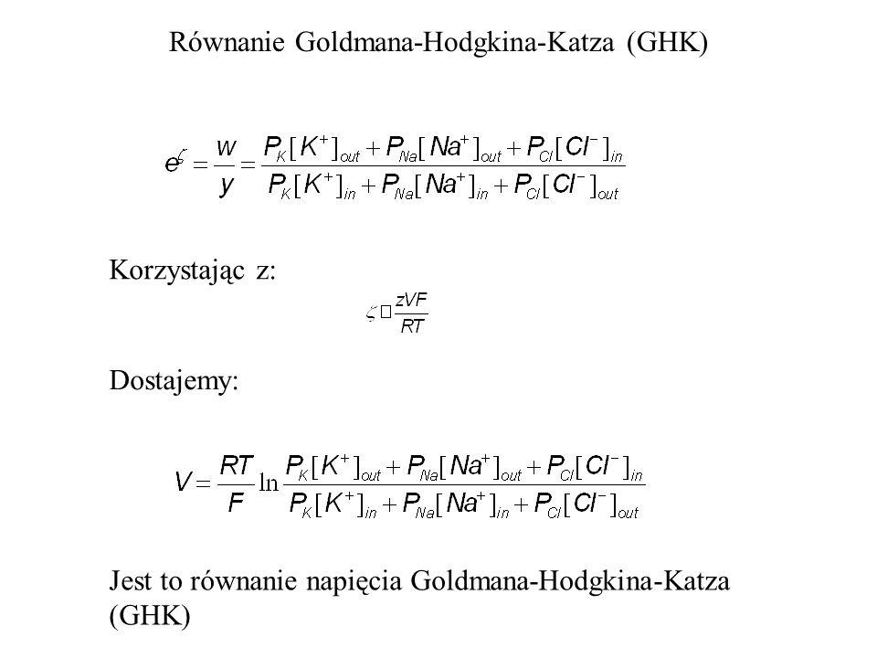 Równanie Goldmana-Hodgkina-Katza (GHK)