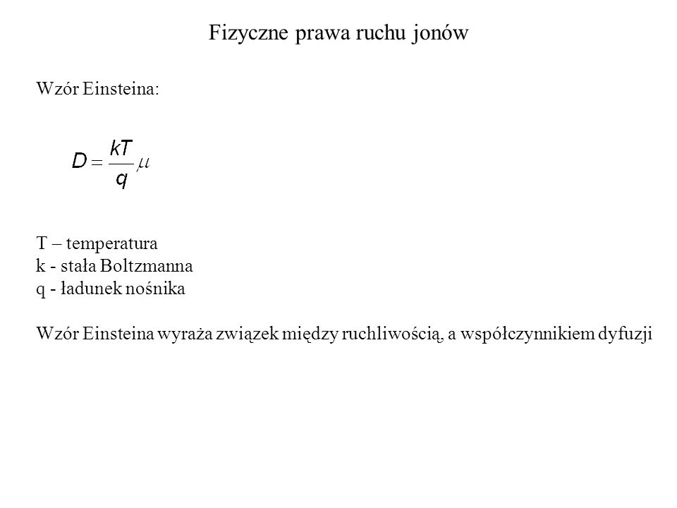Fizyczne prawa ruchu jonów