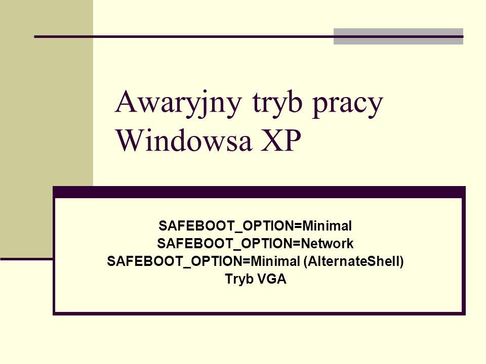 Awaryjny tryb pracy Windowsa XP