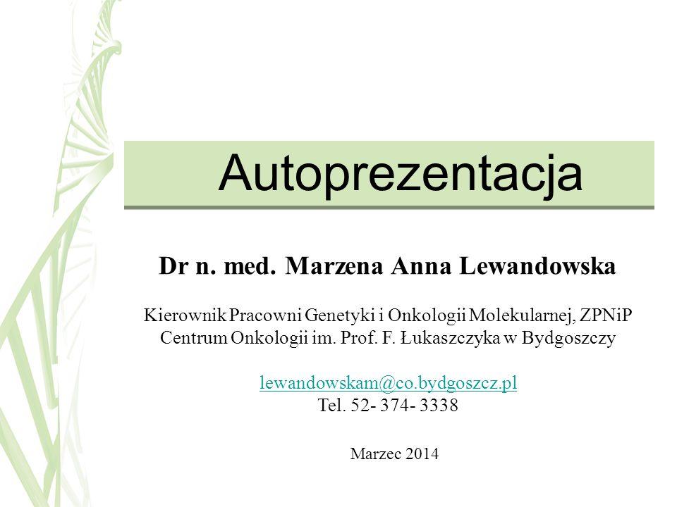 Dr n. med. Marzena Anna Lewandowska