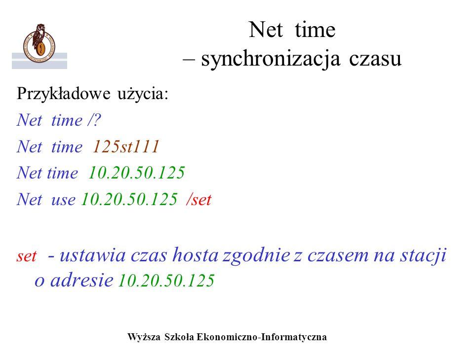 Net time – synchronizacja czasu