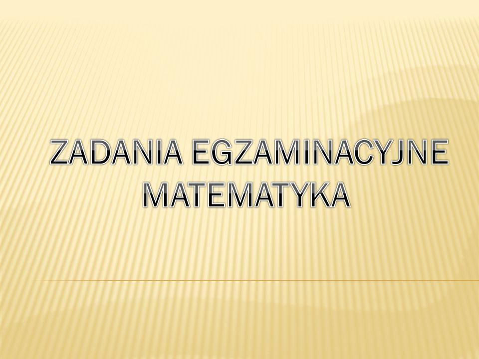 ZADANIA EGZAMINACYJNE
