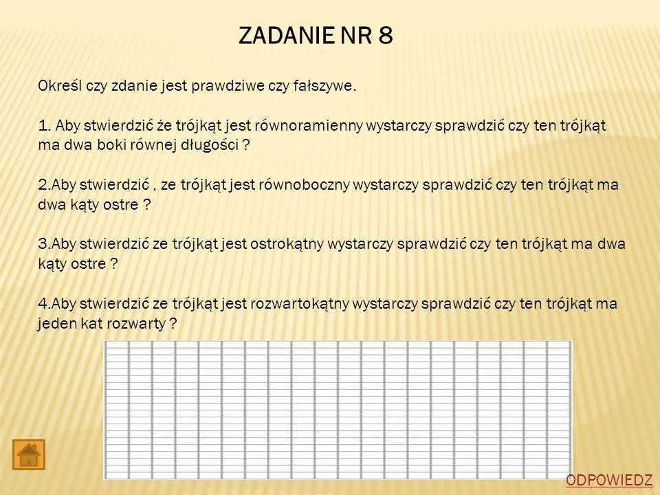 ZADANIE NR 8