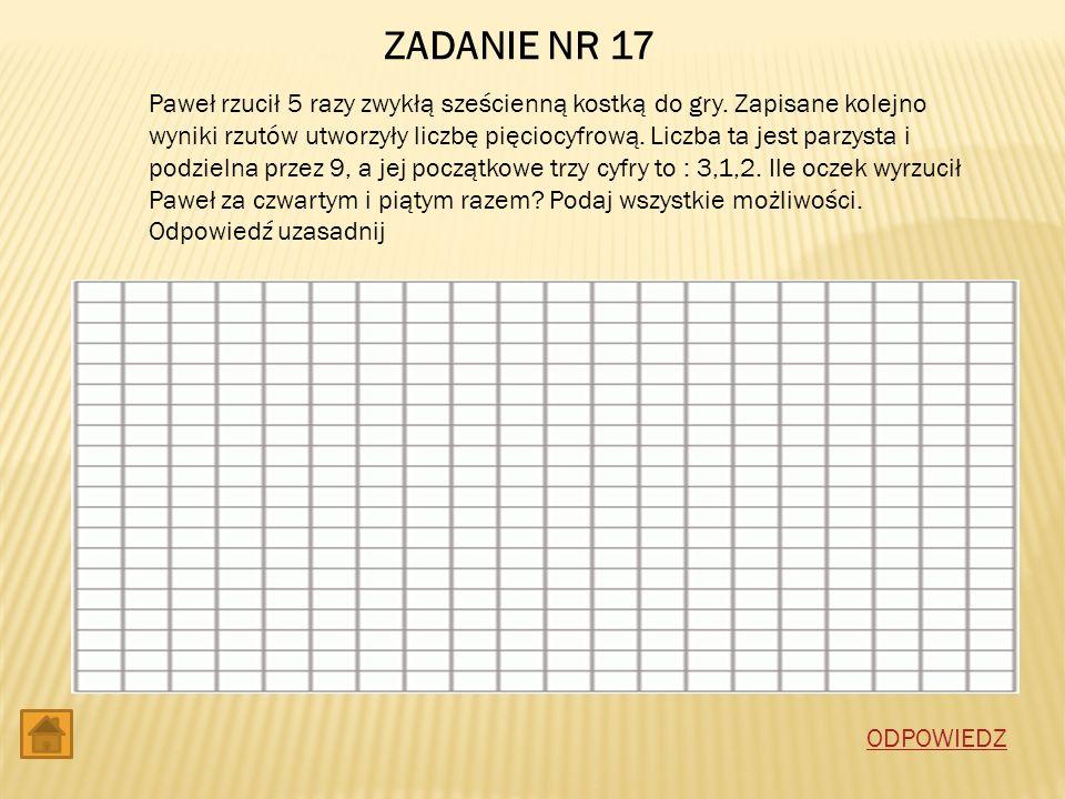 ZADANIE NR 17
