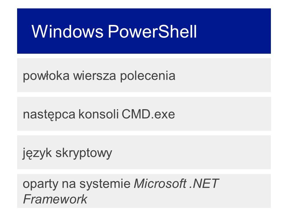 Windows PowerShell powłoka wiersza polecenia następca konsoli CMD.exe