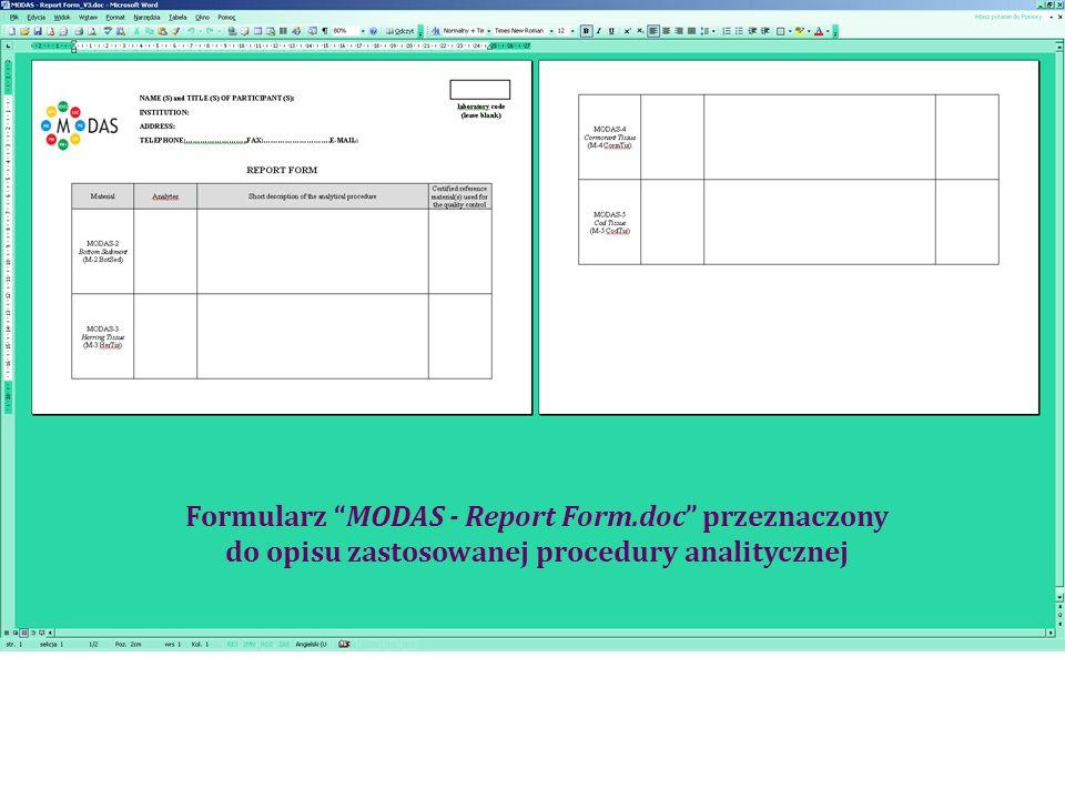 Formularz MODAS - Report Form.doc przeznaczony