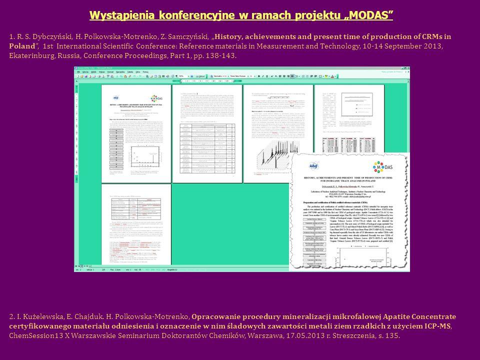 """Wystąpienia konferencyjne w ramach projektu """"MODAS"""