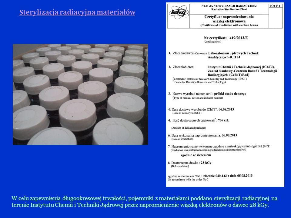 Sterylizacja radiacyjna materiałów