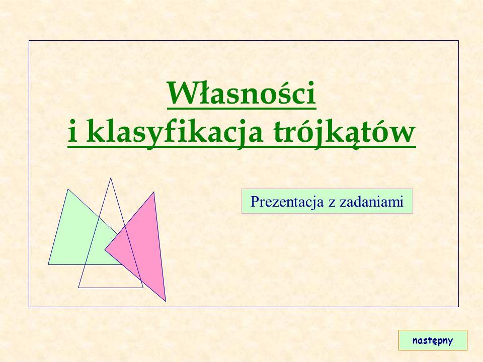 Własności i klasyfikacja trójkątów
